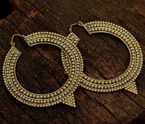 Tribal Pointed Hoop Baizaar Earrings