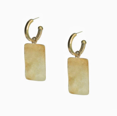 Ripple Charm Hoop SOKO Earrings