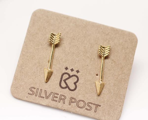 Silver Post Stud Earrings
