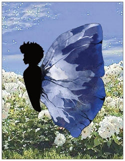 Watercolor Blue Black Butterfly Card