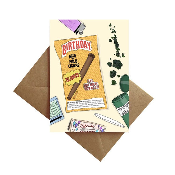 Birthday Blunt Card