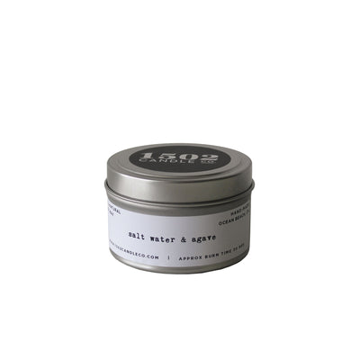 Salt Water & Agave Candle - 6 oz Travel Tin