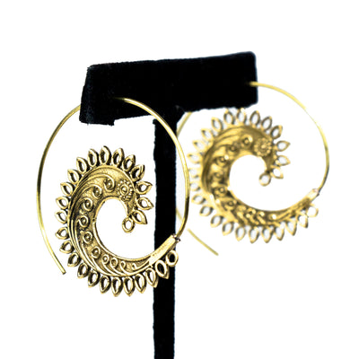 Feathered Spiral Baizaar Earrings