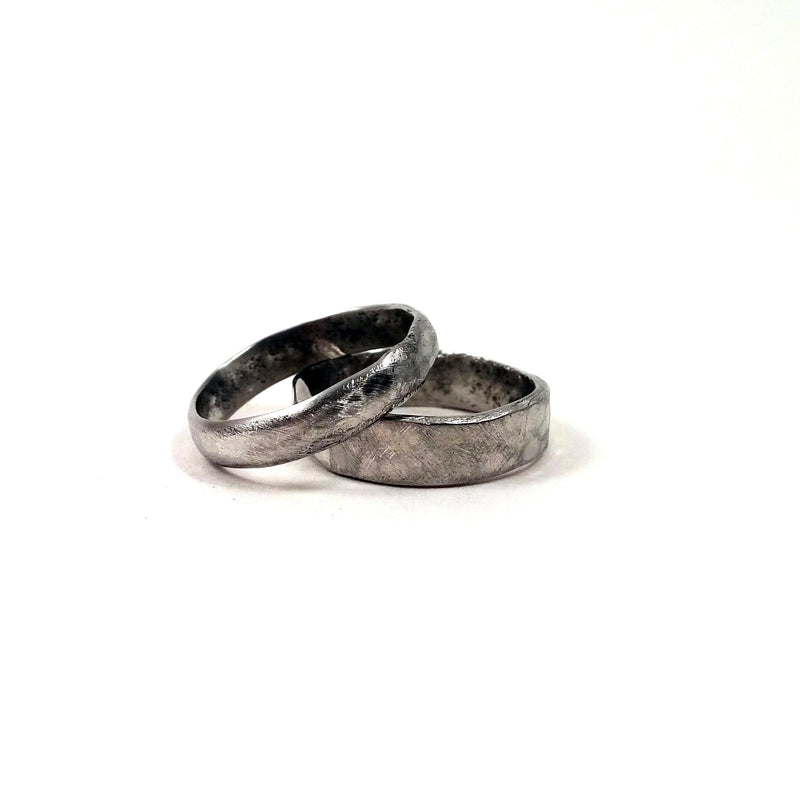 Size 6 Wide Pewter Band