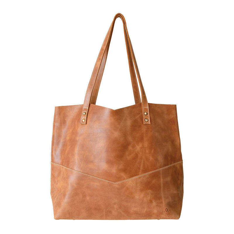 Leather Travelers Tote