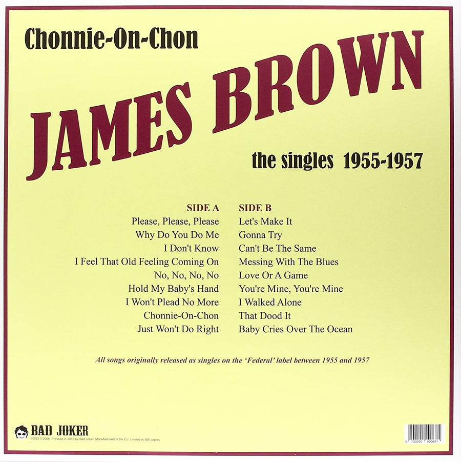 James Brown - Chonnie-On-Chon - The Singles 1955-57- LP