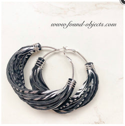 "2.5"" Metallic Leather ""Dreamweaver"" Earrings"