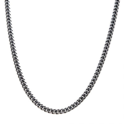 Stainless Steel Black Plated Diamond Curb Chain