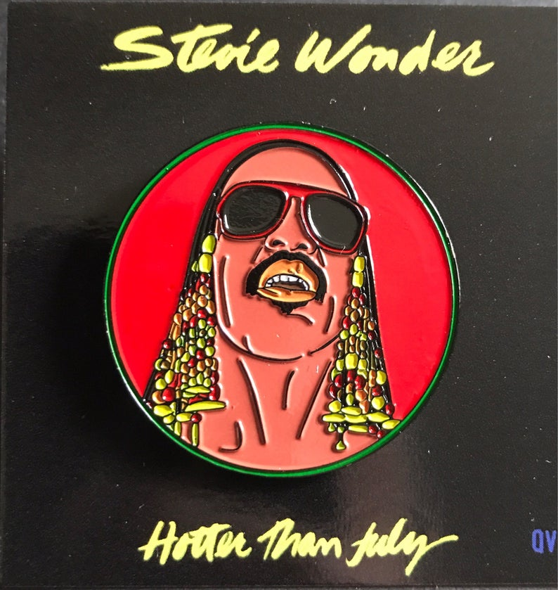 Stevie Wonder - Enamel Pin by Reformed School