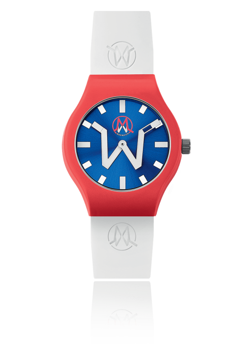 Horloge wit/rood - Madwatch