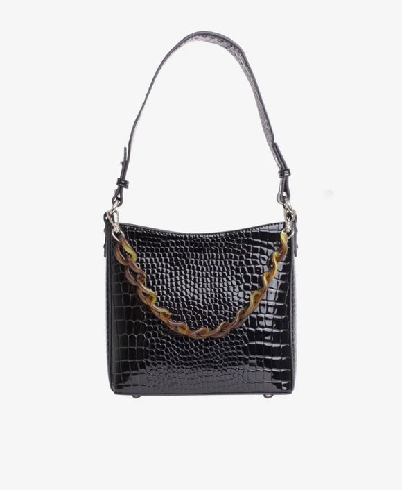 Amble handtas black croco - Hvisk
