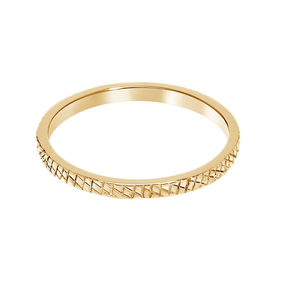 Addar ring gold plated - A brend