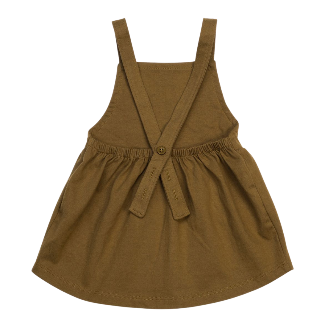Organic Pinafore Dress - Spice