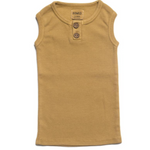 Load image into Gallery viewer, Organic Vintage Henley Tank - Ochre