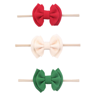 Holiday Headband Set - Waffle Headbands