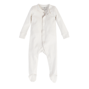 Organic Skylar Footed Sleeper - Natural
