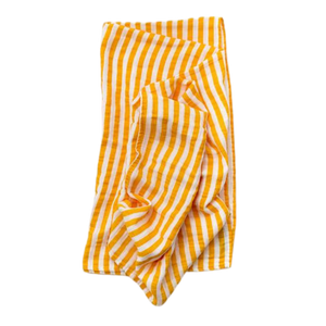 Muslin Swaddle Blanket - Citrus Stripe