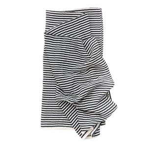 Muslin Swaddle Blanket - Black and White
