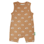 Load image into Gallery viewer, Organic Tank Romper - Toast Hedgehogs
