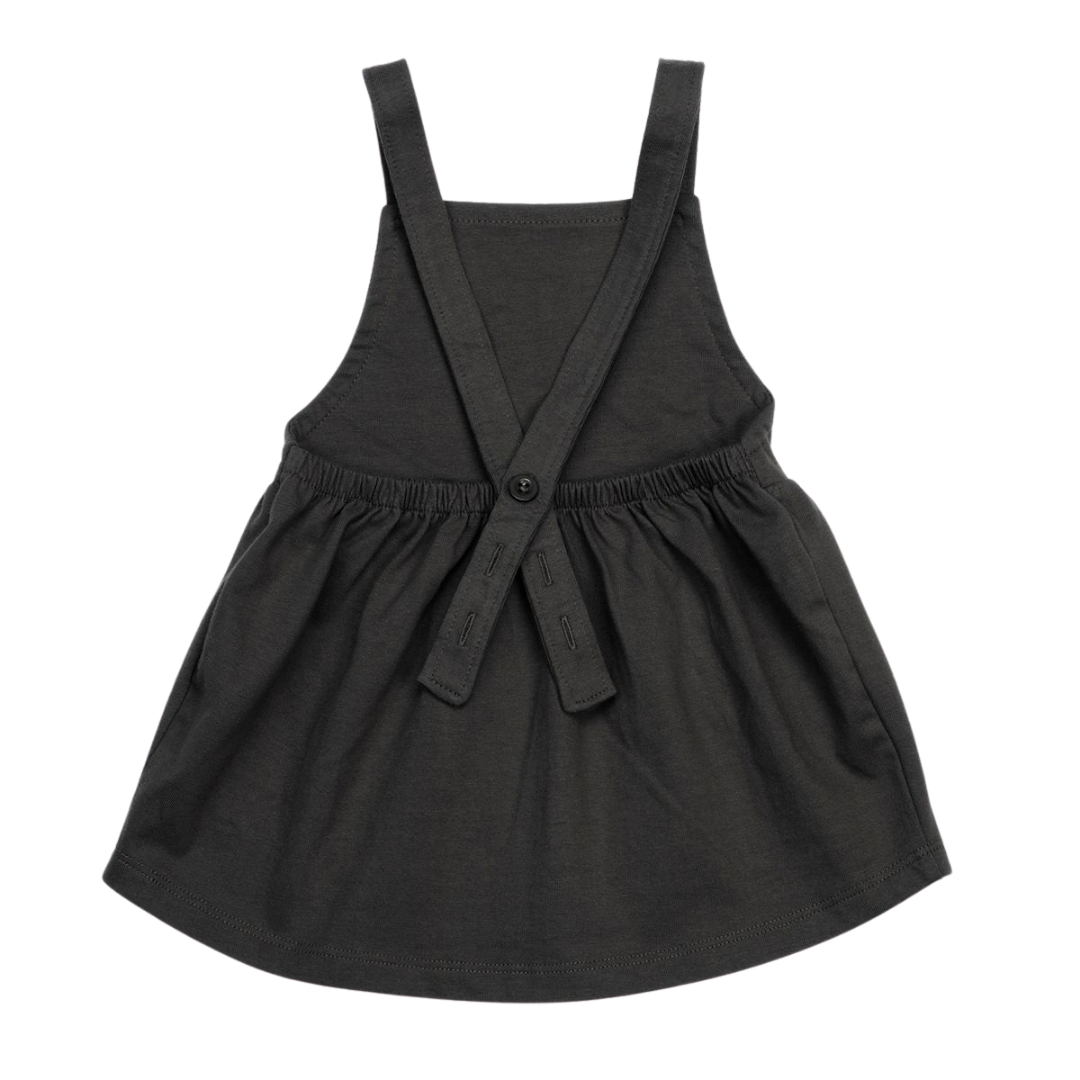 Organic Pinafore Dress - Storm
