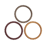 Load image into Gallery viewer, PRE-ORDER Pearl Teething Bracelet 3-Pack (Berry/Marigold/Khaki)