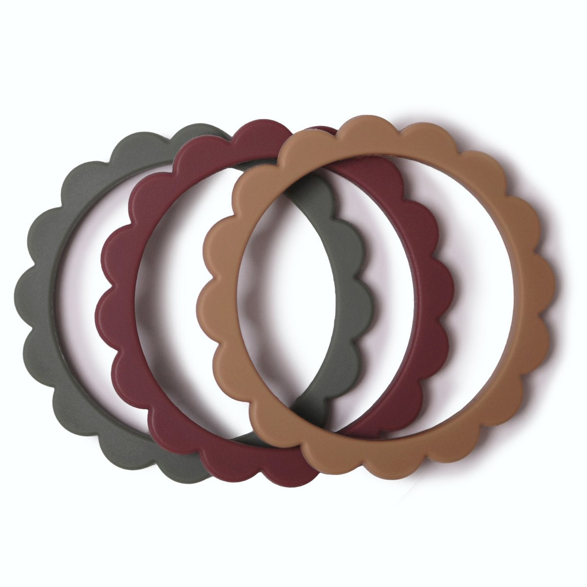 PRE-ORDER Flower Teething Bracelet 3-Pack (Dried Thyme/Berry/Natural)