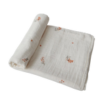 Load image into Gallery viewer, PRE-ORDER Organic Cotton Muslin Swaddle Blanket - Flowers