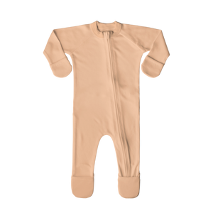 PRE-ORDER Organic Cotton/Bamboo Footie: Poppy