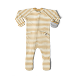 Load image into Gallery viewer, PRE-ORDER Organic Cotton/Bamboo Footie: Sun Stripe