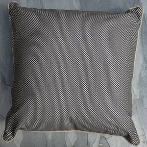 Scarlett Scatter Cushion Dots Noir Piped Farren Hessian 50cm x 50cm WP
