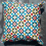Scarlett Scatter Cushion (Flock Red Blue)