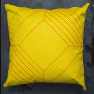 Scarlett Scatter Cushion Metro Yellow 50cm x 50cm WP