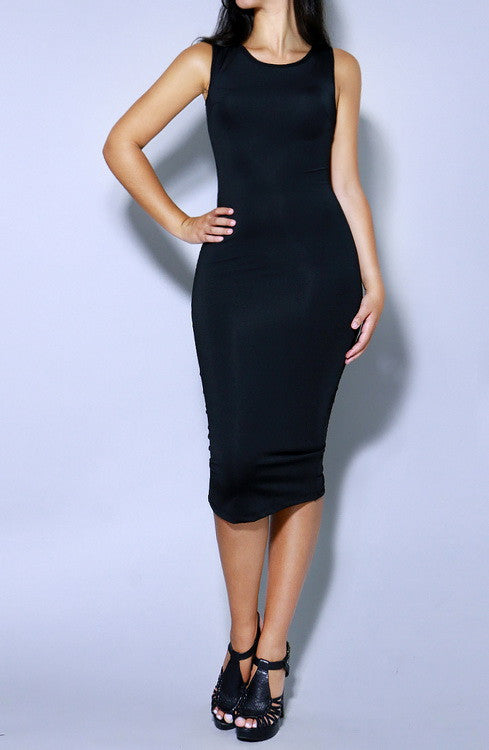 Simple Sleeveless Bodycon Dress