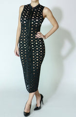 Scuba Hole Punched Dress