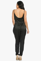 Satin Drape Jumpsuit