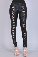Lace Up Skinny Pants