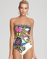 Floral Strapless One Piece
