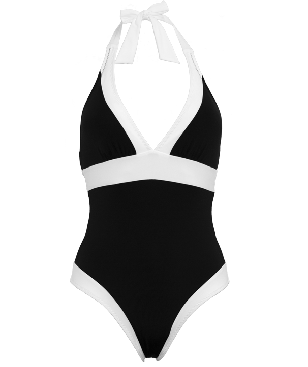 Halter Neck Swimsuit with Tummy Control - St Tropez - Jag London - Jaglondon