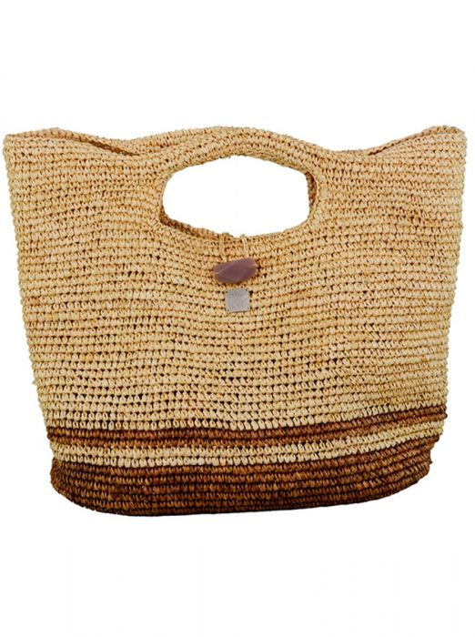 Hand-made Raffia Bag - St Tropez - Jag London