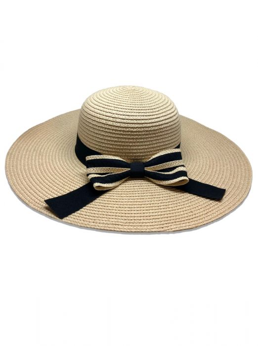 Natural Straw Wide  Adjustable Brim Hat - St Tropez - Jag London - Jaglondon