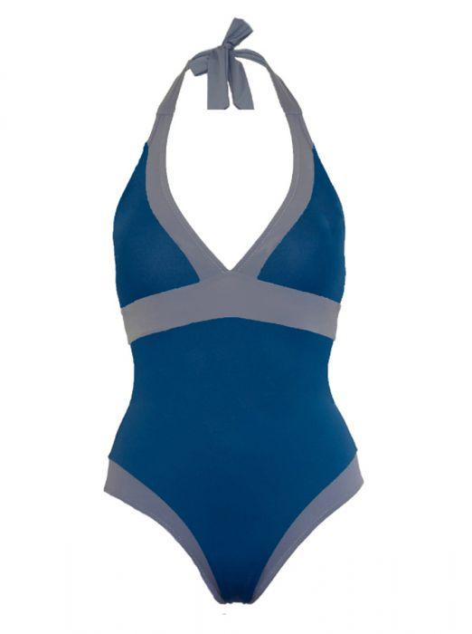 Halter Swimsuit with Tummy Control - Santorini - Jag London - Jaglondon