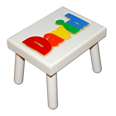 Copy of Damhorst Primary White Wood Puzzle Stool