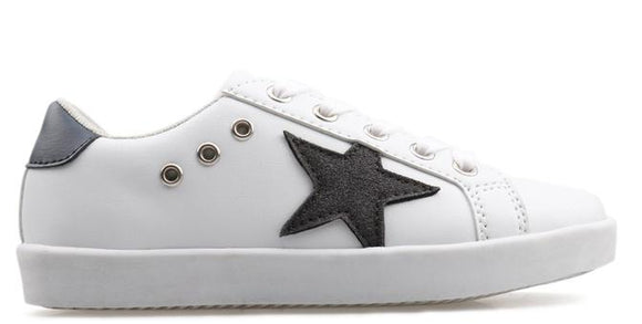 Hoo Shoes Mia Star White Lace Sneakers
