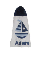 KokoBaby Toddler Sailboat Towel