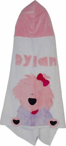 KokoBaby Toddler Pink Dog Towel