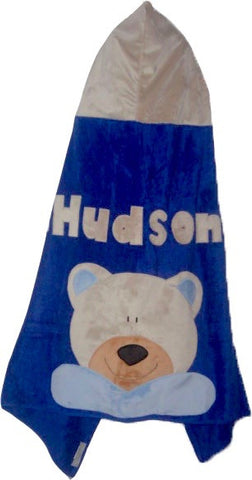 KokoBaby Toddler Blue Teddy Bear Towel