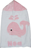 KokoBaby Toddler Pink Whale Towel