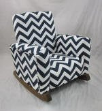 Zig Zag Navy Rocking Chair