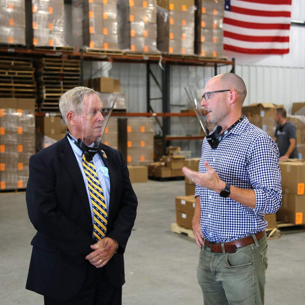 Congressman Joe Wilson toured the Columbia based PPE facility, ZVerse, Monday, August 18 to learn more about the expanding operation.