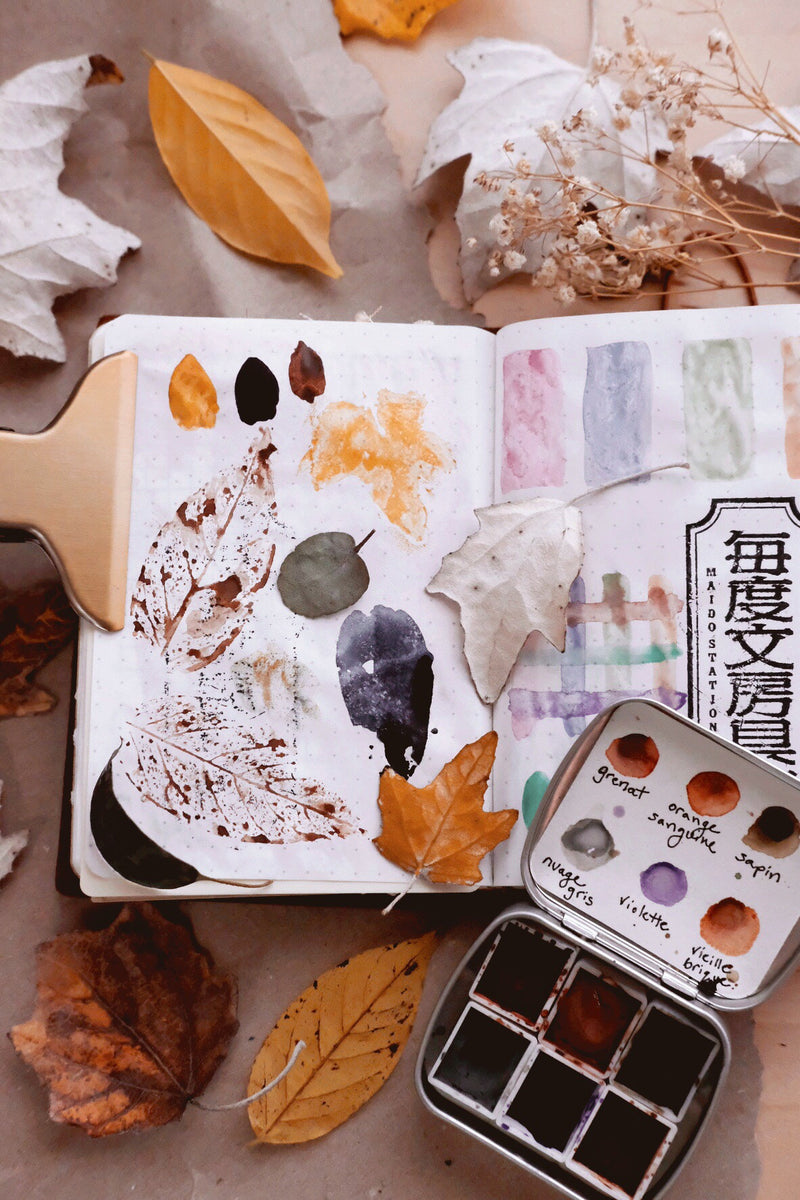 Day 25 Art journal challenge + Eco printing with leaves